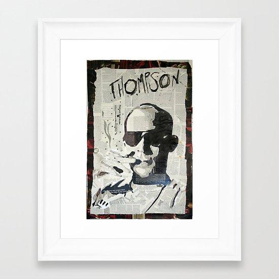 Dr. Hunter S. Thompson Framed Art Print