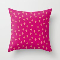 Catctus Strawberry Throw Pillow