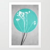 Abstract Flowers 1 Art Print
