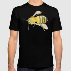 bee no. 2x2 Mens Fitted Tee Black SMALL