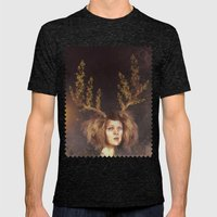 The Golden Antlers Mens Fitted Tee Tri-Black SMALL