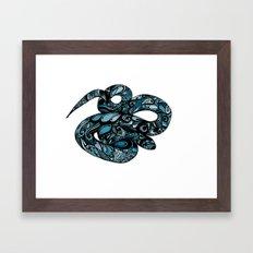 Blue Water Snake Framed Art Print