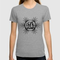 Home Grown Organic Womens Fitted Tee Athletic Grey SMALL