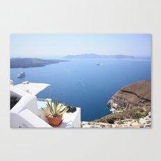 Love Santorini Canvas Print