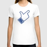 Likeable Womens Fitted Tee White SMALL