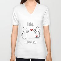 Hello I Love You Unisex V-Neck