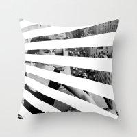 City Rays Throw Pillow