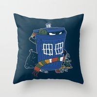 Doctor The Grouch Throw Pillow