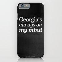 iPhone & iPod Case featuring Georgia's always on my mind by Grafiskanstalt