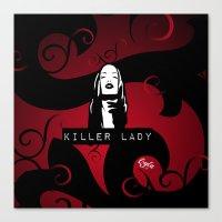 KILLER LADY LOGO ONE  Canvas Print