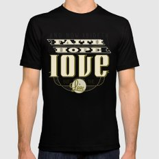 The Greatest of These Is Love SMALL Black Mens Fitted Tee