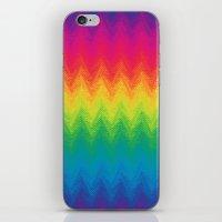 Neon Rainbow Feather Che… iPhone & iPod Skin