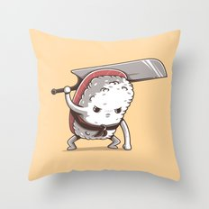 Samurai sushi - Tuna Throw Pillow