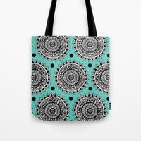 Turquoise Mandala Tote Bag