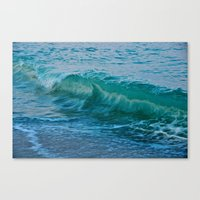 Crashing Wave At Dusk Canvas Print
