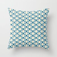 Cupcake Ovals Throw Pillow