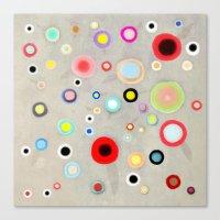 Abstract Happy Circles Canvas Print