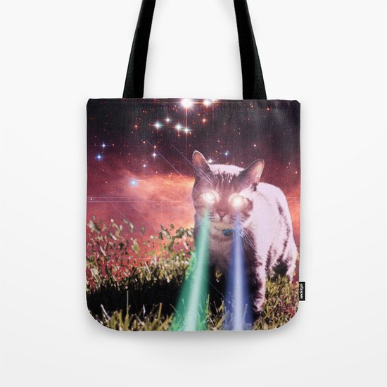 Mega Space Cat Rising Tote Bag