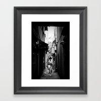 Kiyamachi Geisha, Kyoto Framed Art Print