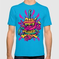 BEASTBURGER 2: ELECTRIC BURGERLOO Mens Fitted Tee Teal SMALL