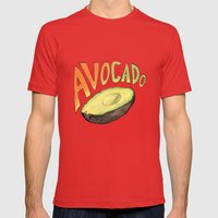 Avocado Mens Fitted Tee Red SMALL