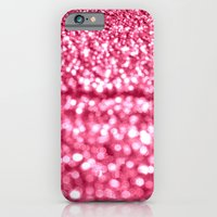 glitter iPhone & iPod Cases featuring Bubblegum Pink Glitter Sparkles by WhimsyRomance&Fun