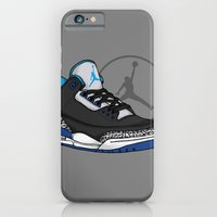 iPhone Cases featuring Jordan 3 (Sport Blue) by Pancho the Macho