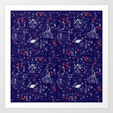 Stuga Pattern  Art Print