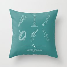 Clue, Weapon of Choice Throw Pillow