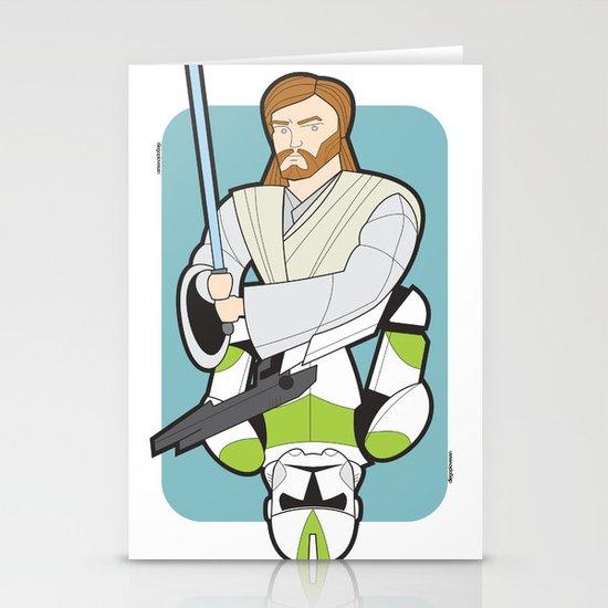 Obi-wan and Clone Trooper Stationery Card