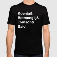 Helvetica Weekend  Mens Fitted Tee Black SMALL