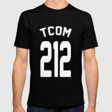 TCOM 212 AREA CODE JERSEY Mens Fitted Tee SMALL Black