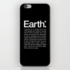 Earth.* Available for a limited time only. iPhone & iPod Skin