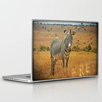 zebra Laptop & iPad Skins featuring Zebra by minx267