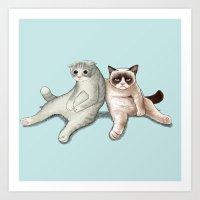 Grumpy Friend Art Print