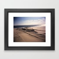 Sea Fence Framed Art Print