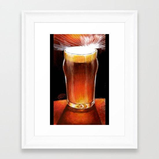 Beer_Illustration Framed Art Print