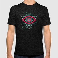 Illuminati (alt color) Mens Fitted Tee Tri-Black SMALL