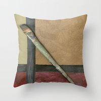 Artist Brush Throw Pillow