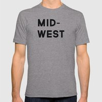 MID-WEST Mens Fitted Tee Athletic Grey SMALL