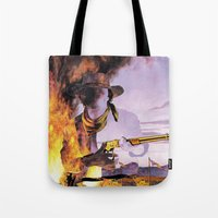 The Unknown Rider in Hidden Blood Tote Bag