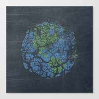 worn out world Canvas Print