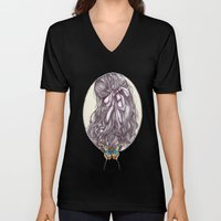Bow and Butterfly Unisex V-Neck