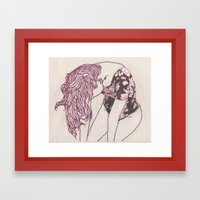 Weeping Willow Framed Art Print