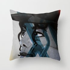 Looking Out Across The Nighttime Throw Pillow