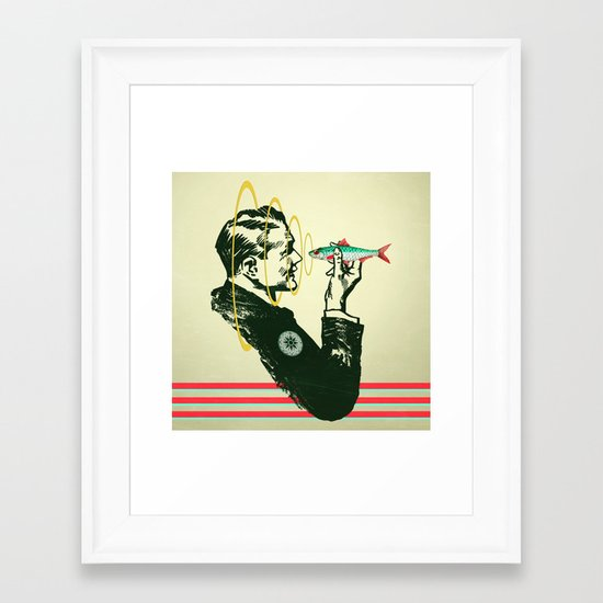 Hypnotic sardine  Framed Art Print