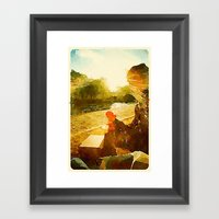 On the River Seine Framed Art Print