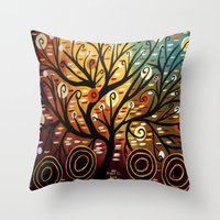 Abstract Tree-9 Throw Pillow