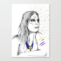 Colored Imagination Canvas Print