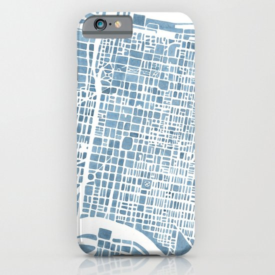 Philadelphia City Map iPhone & iPod Case